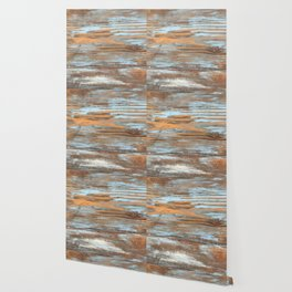 Vintage Wood With Color Splashes Wallpaper