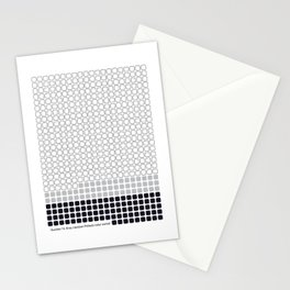 Number 14: Gray (Jackson Pollock) color-sorted Stationery Cards