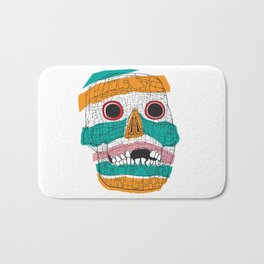 Stripy Skull  Bath Mat