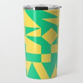 English Square (Yellow & Green) Travel Mug