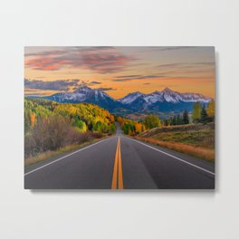 The Road To Telluride Metal Print