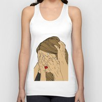 introvert Tank Tops featuring Introvert 6 by Heidi Banford