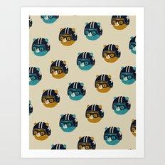 racer bear Art Print