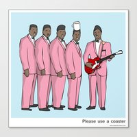 coasters Canvas Prints featuring Please use a coaster by Masonic Comics