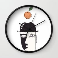 clockwork orange Wall Clocks featuring clockwork orange by NikaQ