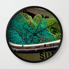 Colorful Ropes Wall Clock