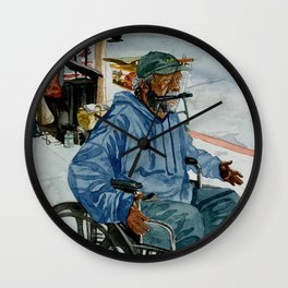 Homeless Series 1 ~ Sunset Blvd., Los Angeles, CA. Wall Clock