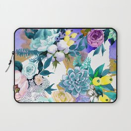 Floral Patterns in Contemporary Designs and Colors Laptop Sleeve
