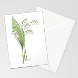 Lily of the Valley Watercolor Stationery Cards