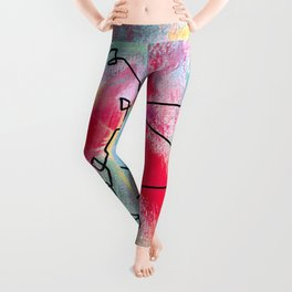 Grab Your Bag and Fly and See the World by Lenna Leggings