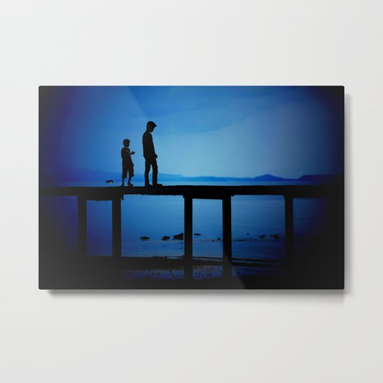 WHEN I'M FEELING BLUE Metal Print