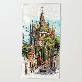 Calle Aldama, San Miguel de Allende Beach Towel