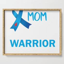 Proud MOM of a Diabetes Warrior Serving Tray