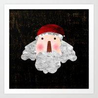 santa Art Prints featuring Santa  by Inmyfantasia