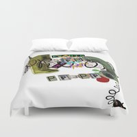 telephone Duvet Covers featuring telephone  by Gianluca Floris