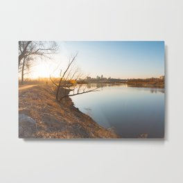 Sunrise from KAW Point Metal Print