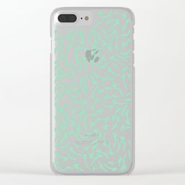 Shoes White on Mint Clear iPhone Case