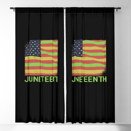 Juneteenth African American Flag History Blackout Curtain