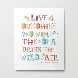 Live in the Sunshine Metal Print
