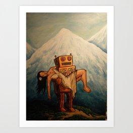 Robot Dream 3 Art Print