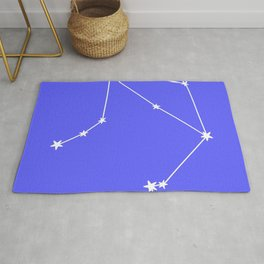 Libra (White & Azure Sign) Rug