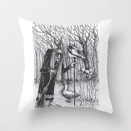 Baba Yaga Throw Pillow