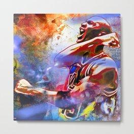 M. Jordan Painted Metal Print