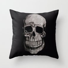 Keep smiling when your dead Throw Pillow