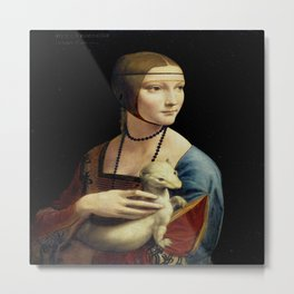 Leonardo da Vinci's The Lady with an Ermine Metal Print