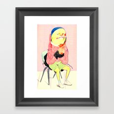 Seated figure, contemplating  Framed Art Print
