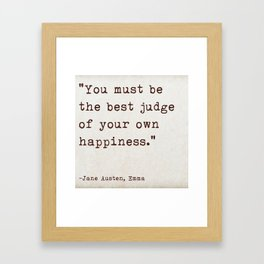 Jane Austen Emma Quote Framed Art Print