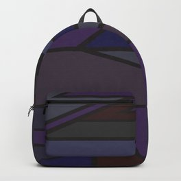 Abstract art purple and blues Backpack