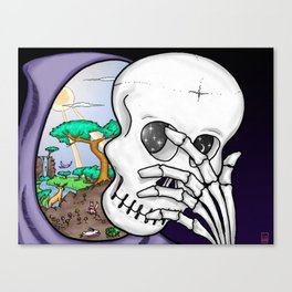 Life Mask Canvas Print