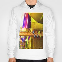 subway Hoodies featuring Subway NYC by Bettie Blue Design