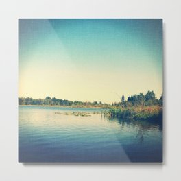 Fishing lake Metal Print