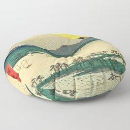 Utagawa Hiroshige - 36 Views of Mt.Fuji - Suruga Mihonomatsubara Floor Pillow