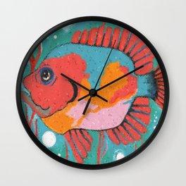 Tropical Mosaic Wall Clock