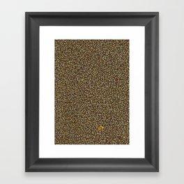 Yellow Dot Color Design Framed Art Print