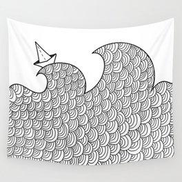 La barchetta di carta Wall Tapestry