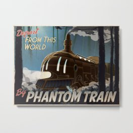 Final Fantasy VI - Come Ride the Phantom Train Metal Print