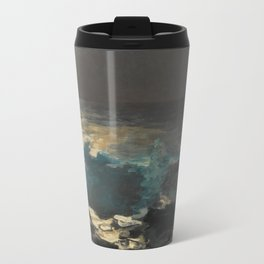 Moonlight, Wood Island Light by Winslow Homer, 1894 Travel Mug