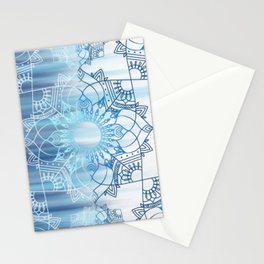 Fading Blue Design Stationery Cards