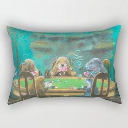 Pinnipeds Playing Poker Rectangular Pillow