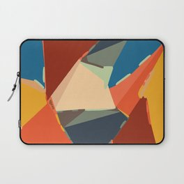 brown orange yellow and blue geometric graffiti painting abstract background Laptop Sleeve