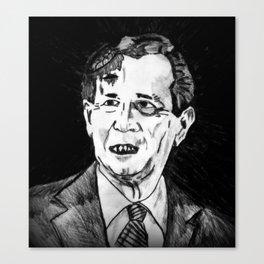 43. Zombie George W. Bush  Canvas Print