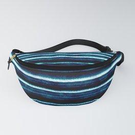 Pattern Lignes Bleu Profond Fanny Pack