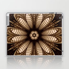Abstract flower mandala with geometric texture Laptop & iPad Skin
