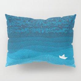 Ornament sky, nautical blue Pillow Sham