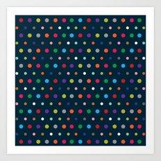 Color Polka Art Print