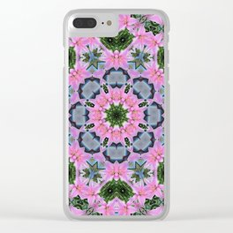 KALEIDOSCOPE LILY ELODIE SINGLE FLOWER 2 Clear iPhone Case